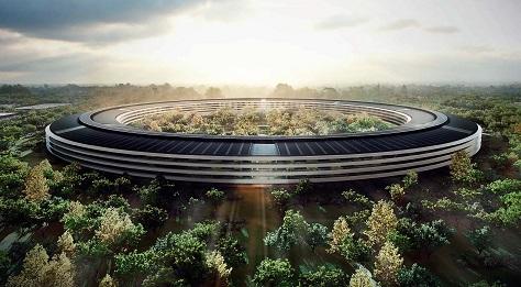 Кампус Apple з сонячними панелями