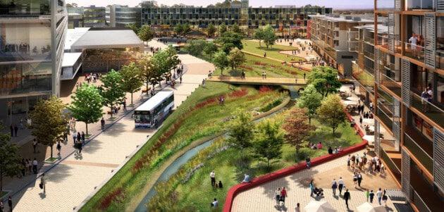 Архітектура зеленого урбаністичного ландшафтного дизайну