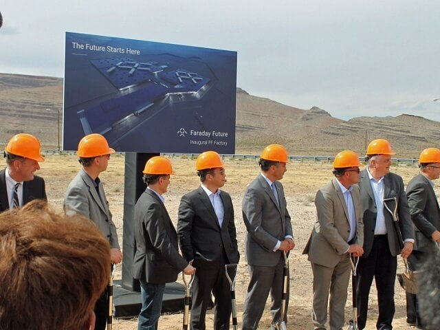 Faraday Future почали будувати завод з виробництва електромобілів у 500 милях від Gigafactory