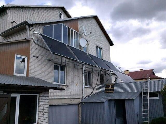 Сонячні колектори для приватного домогосподарства