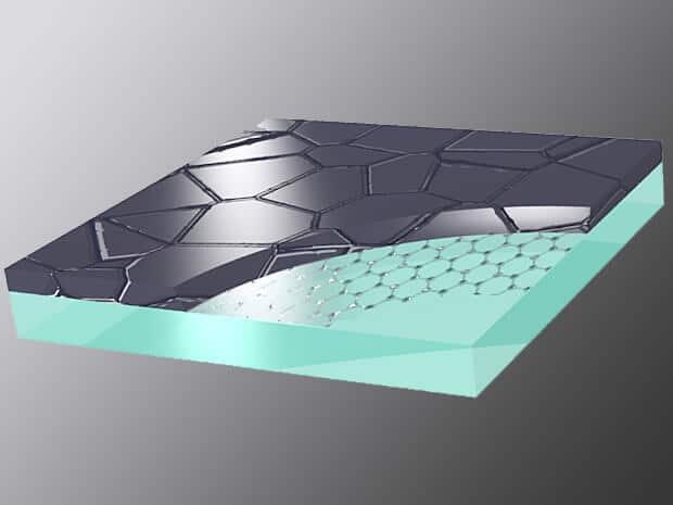 Схематичне зображення графенової плівки