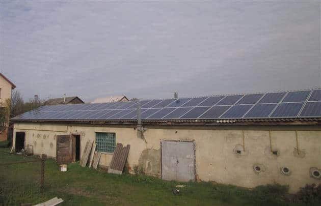 Сонячні панелі на Закарпатті