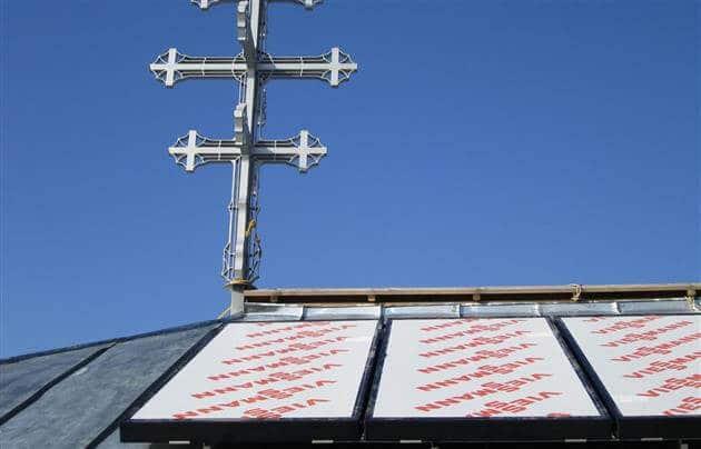 Сонячні колектори на даху в Закарпатті