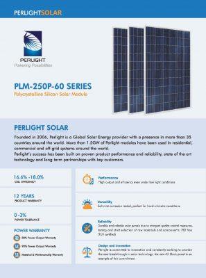 Опис сонячних панелей Perlight Solar