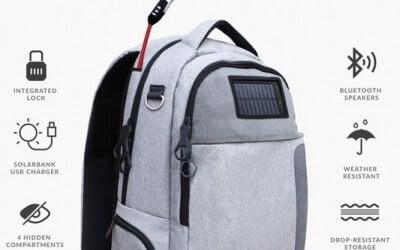Рюкзак з вбудованим акумулятором і сонячними батареями підкорив Kickstarter
