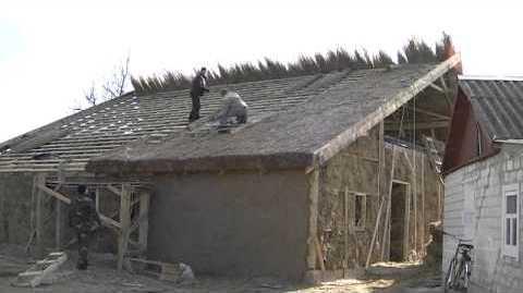 Как сделать дом из камыша видео