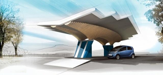 Peugeot представила «сонячну» станцію електрозаправки