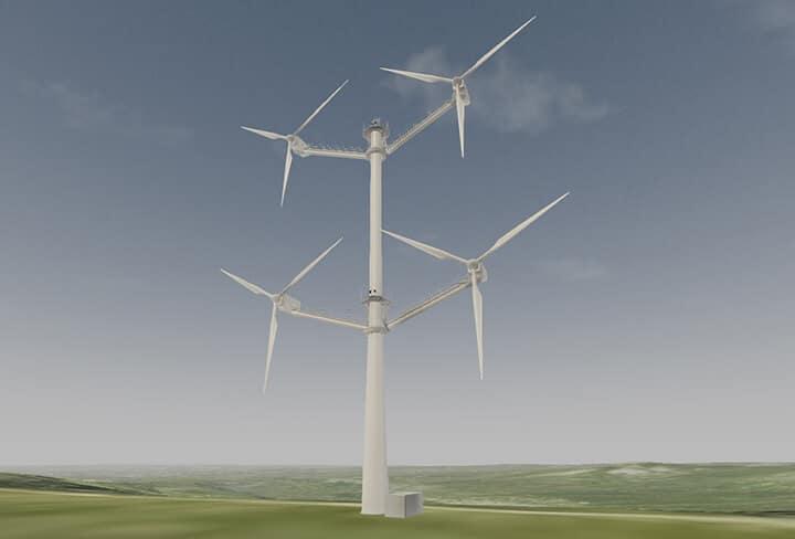 Один з найбільших в світі виробників вітряків Vestas показав концепт мультіроторной установки турбін вітрогенераторів, щоб спростувати існуючі сумніви щодо масштабованості вітрових турбін