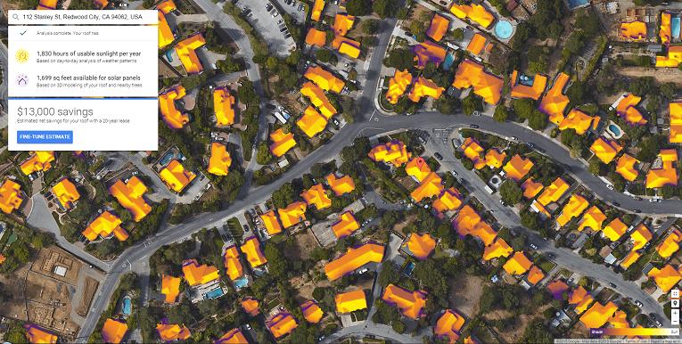 Проект Google «Сонячний дах» охопив 43 млн. дахів у більшості штатів США