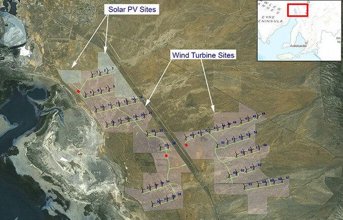 В Австралії побудують гібридну сонячно-вітряну електростанцію