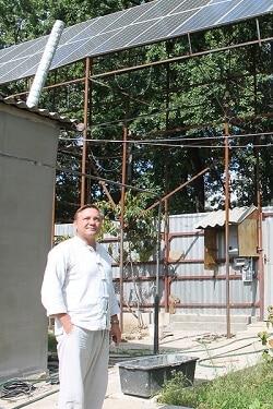Переселенець з Сімферополя побудував в Полтаві власну електростанцію на сонячних батареях