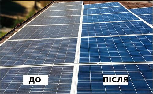 Чистка сонячних батарей