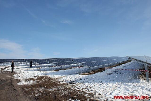 На Вінничині запрацювала нова сонячна електростанція потужністю 7 МВт