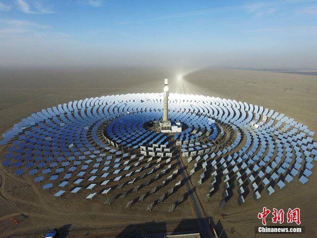 В Китаї запустили сонячно-термальну електростанцію потужністю 10 МВт