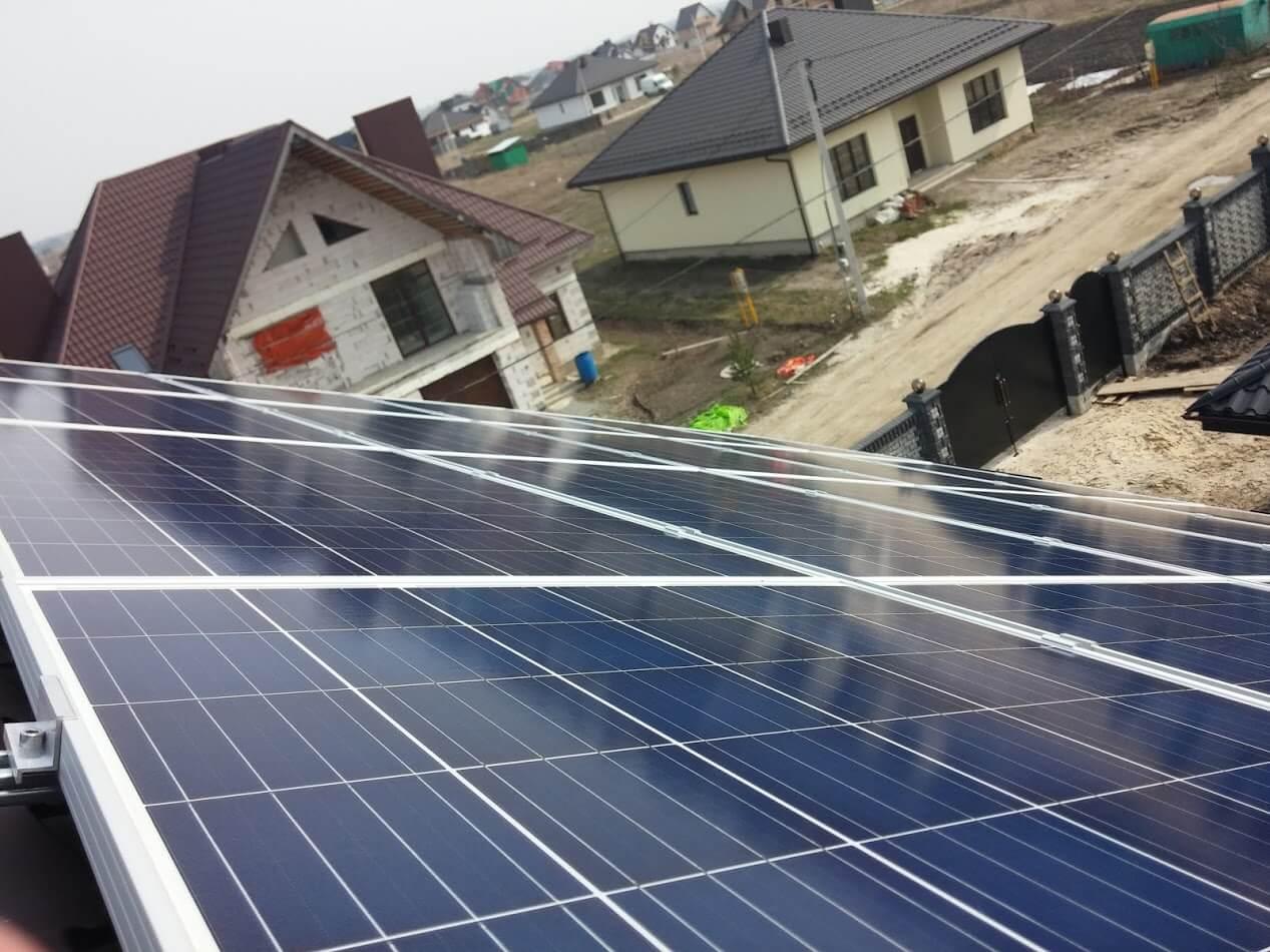 7кВт сонячна електростанція Рівне. сонячні панелі