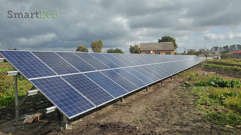 Сонячна електростанція під зелений тариф 30 кВт, Дубно Тараканів 2017