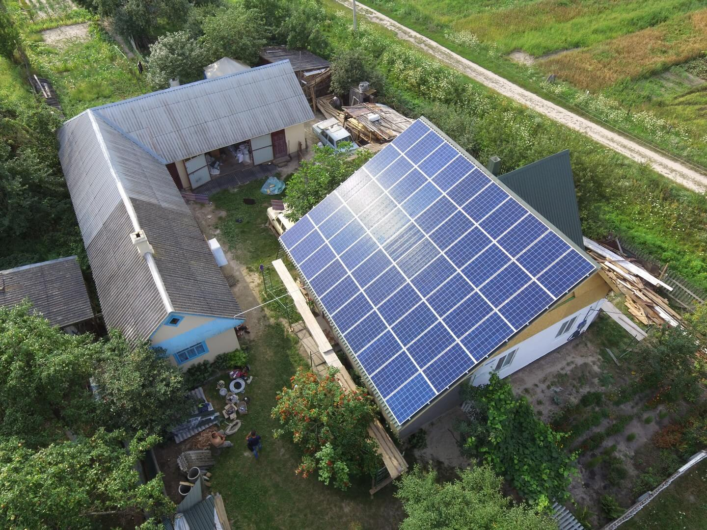 Сонячна електростанція під зелений тариф 20кВт перша черга. Данчиміст, Костопіль