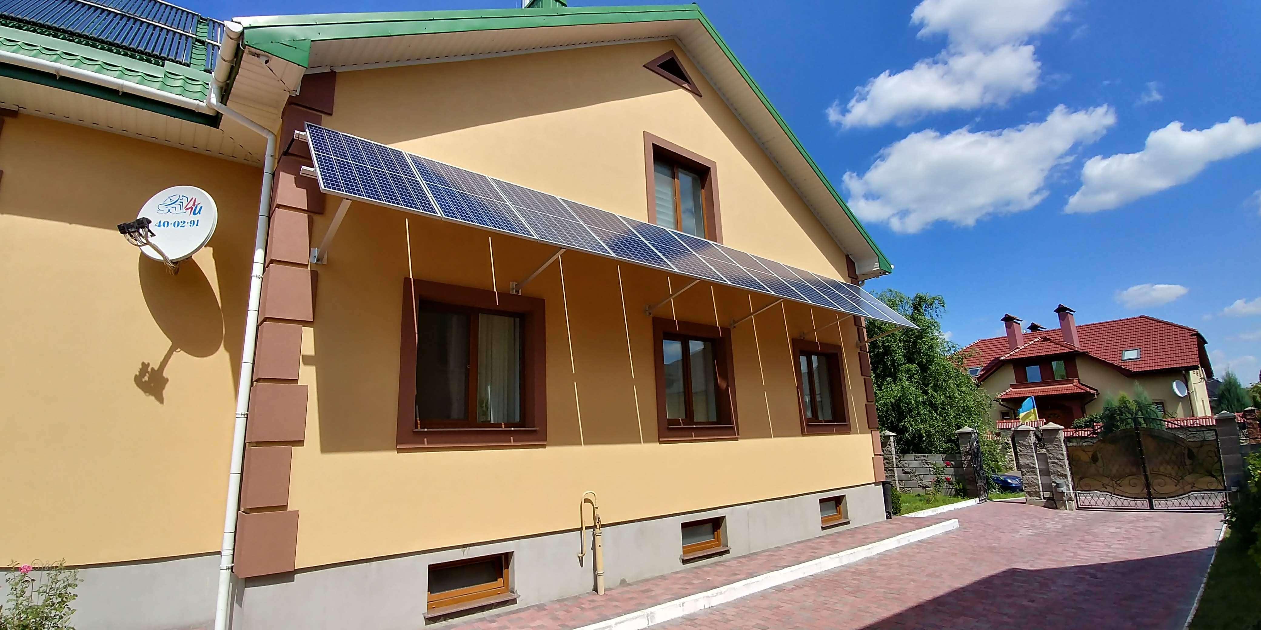 3 кВт сонячна електростанція для забезпечення власних потреб домогосподарства в м.Рівне