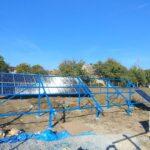 В процесі монтажу сонячних панелей