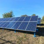 Змонтовані сонячні панелі