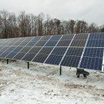 Сонячна електростанція під зелений тариф с.Олександрія, 2018. Зимовий монтаж