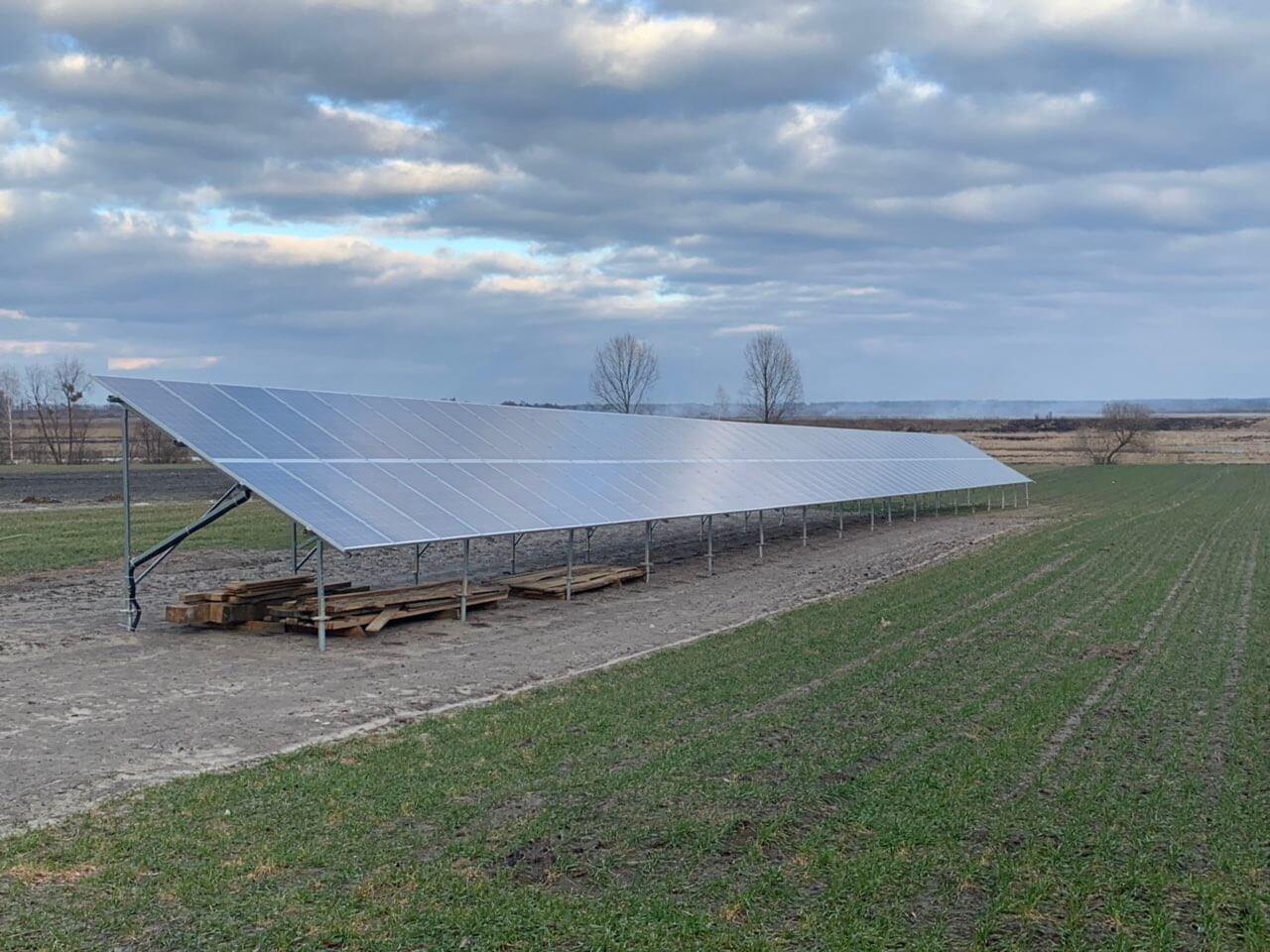 Сонячна електростанція 30 кВт під зелений тариф в с.Лютинськ, Дубровиця, Рівне