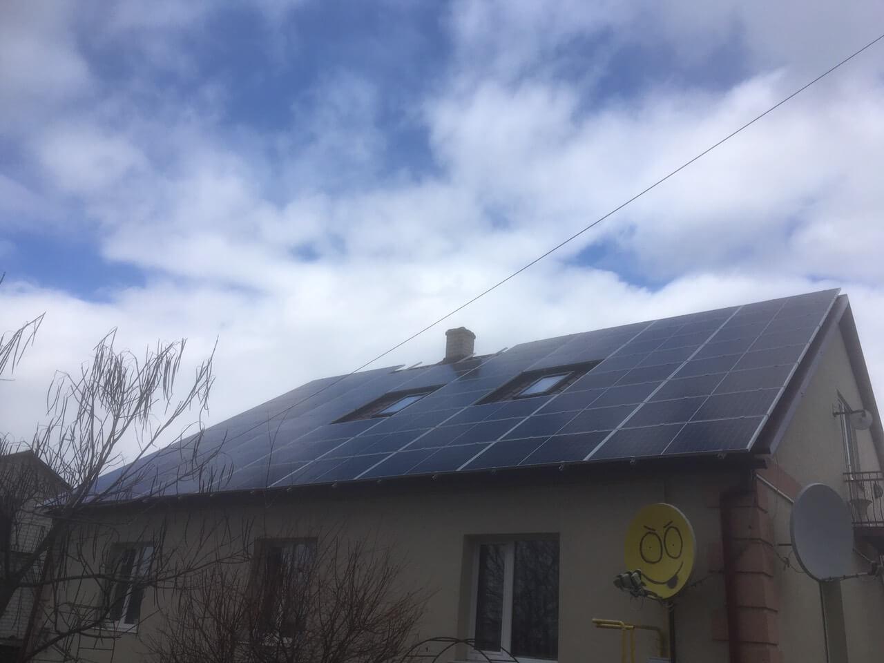 Дахова станція 15 кВт під зелений тариф в селі Селець, Дубровицький район