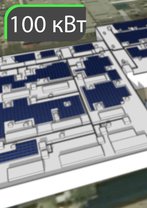 Сонячна електростанція для власних потреб підприємства, трц, виробництва, лікарні, АЗС. 100 кВт. Власне споживання