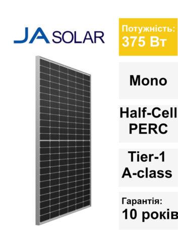 Сонячна панель JA Solar 375 Вт 01.07.2019