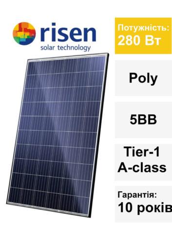 Сонячна панель C&T Solar 280 Вт 01.07.2019